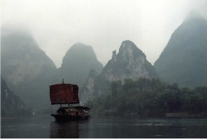 Boat on Li River to Fuli