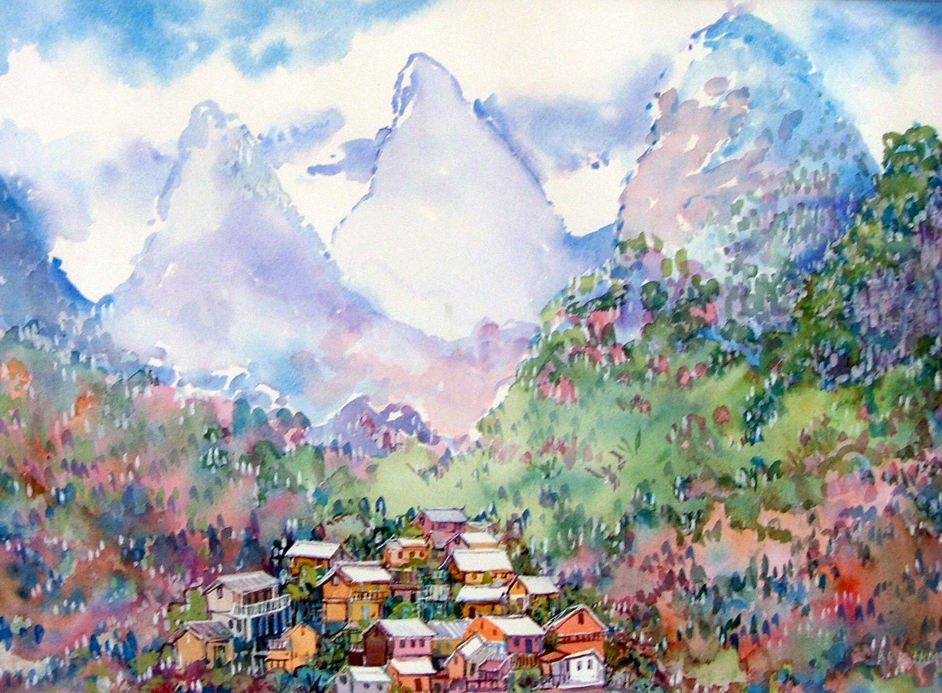 China paintings by artists from around the world for Chinese mural art