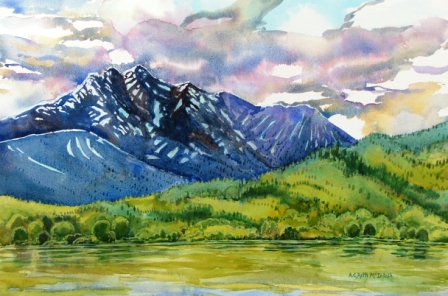 Hudson Bay Mtn Smithers in Watercolour