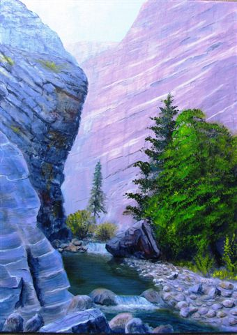 Murray Roed Painting of canyon