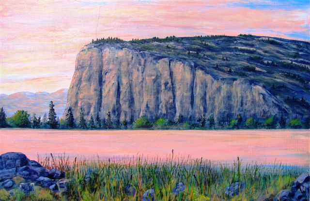 Murray Roed painting of McIntyre bluff