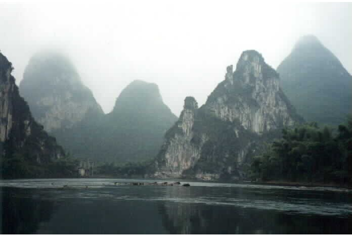 Karst Mtns On Li River